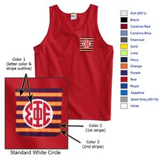 Fraternity Frocket Tank Top $19.95 #fraternity #clothing #custom #greek #gear