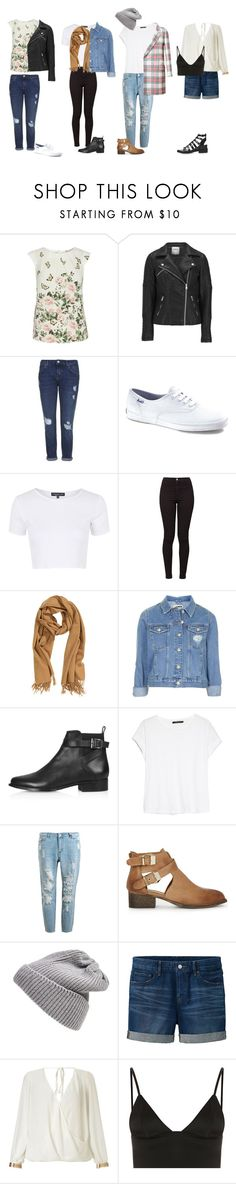 """""""Tess Christine Inspired Outfits"""" by samsus ❤ liked on Polyvore featuring mode, Billie & Blossom, ONLY, Topshop, Keds, American Apparel, H&M, MANGO, Victoria Beckham en Warehouse"""