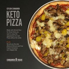 Try this delicious Keto friendly Toaster Oven Pizza made with Almond flour and Ceylon Cinnamon for the taste of a real pizza without the carbs. We made this in the toaster oven, because people who do keto invariable do it alone. Firing up a big oven for a small pizza is pointless. This Pizza is shockingly close to the real thing and very tasty.