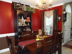 Red dining room makes any dinner better...
