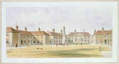 View of Charles Hopton's Alms Houses, 1852 (w/c on paper) Wall Art & Canvas Prints by Thomas Hosmer Shepherd
