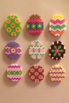 Easter perler bead magnets
