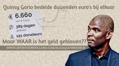 Waar zijn de duizenden euro's crowdfunding gebleven, Quinsy Gario?