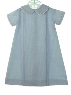 NEW Lullaby Set Blue Windowpane Checked Daygown $55.00