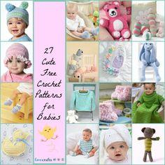 27 Cute Free Crochet Patterns for Babies