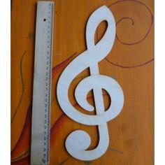 Notenschlüssel von 5cm bis 30 cm