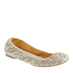 SOMEONE BUY THESE FOR ME. Lula glitter ballet flat. J. Crew