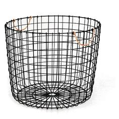 Threshold Wire Log Basket with Copper Handle - Matte Black Threshold http://www.amazon.com/dp/B019JVK3HU/ref=cm_sw_r_pi_dp_jfsNwb0G9WX78