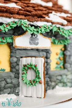 Gingerbread Stone Cottage Detail