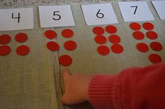 Montessori materails- Maths area  cards and counters - odd and even numbers