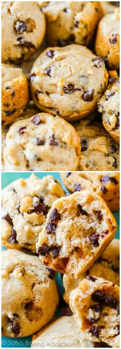 45 Calorie Mini Chocolate Chip Muffins! A low calorie mini muffin that is also tender, soft, and full of flavor. Plus… lots of chocolate.