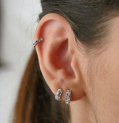 brincos 3 furos orelha - Pesquisa Google