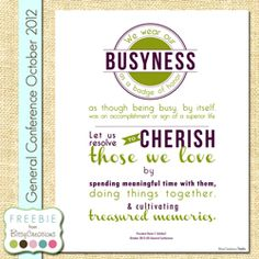 Uchtdorf Busyness LDS Free Printable