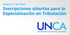 Inscripciones abiertas para la Especialización en Tributación  // #UNCA #Catamarca #Universidad