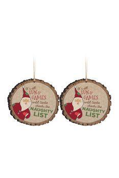 P. Graham Dunn Barky Naughty Ornaments - Set of 2