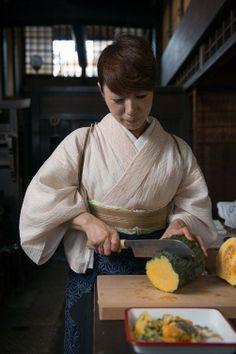 Cooking Kabocha (Pumpkin), Kyoto, Japan 鹿ケ谷かぼちゃ