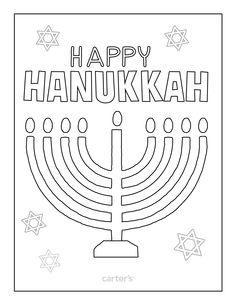 mini coloring pages of hanukkah - photo#10