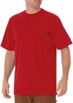 Dickies English Red Short Sleeve Heavyweight Crew Neck T-Shirt