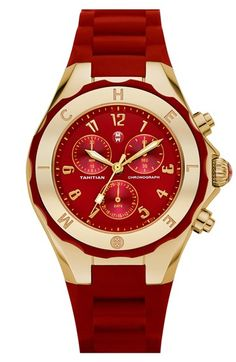 MICHELE 'Tahitian Jelly Bean' Gold Watch, 40mm available at #Nordstrom