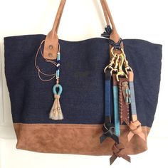 Blue! Den & Delve Shop accessories on a Will Leather Goods tote bag