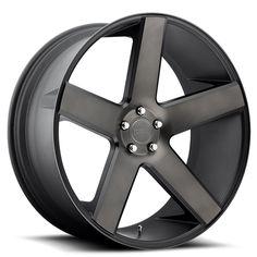 """<p>  22x8.5"""" Dub Wheels Baller S116 Black Machined Rims</p>"""