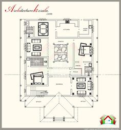 architecture kerala traditional house plan with nadumuttam and
