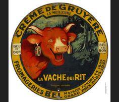 Mécontent du visuel représentant La vache qui rit, Léon Bel fait appel à Benjamin Rabier pour lui dessiner une image plus conforme à l'idée qu'il se fait de la marque. La vache qui rit naît une seconde fois. Au dessin original proposé par l'illustrateur vendéen, Léon Bel fait rajouter un ton rouge vif à la vache et son épouse   1924  Anne-Marie suggère les boucles d'oreilles pour définitivement en faire un emblème unique.