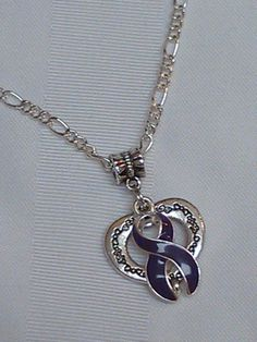 Purple awareness open heart necklace!