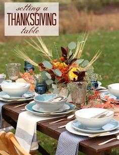 Simple and Elegant Thanksgiving Table — Celebrations at Home