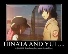 Hinata and Yui - Angel Beats and yes I did cry a little....and then cried some more!