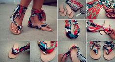 9d3e8a719cdf Make your own sandals in less than 10 minutes! You will need a pair of  flip-flops