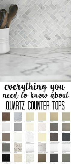 Quartz Counter tops- what you need to know