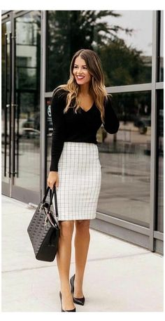Classy Business Outfits, Business Outfit Frau, Business Fashion, Business Attire, Business Chic, Business Women, Business Skirts, Business Casual Skirt, Business Clothes