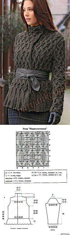 """Элегантность и благородство. Вязаная курточка """"Парижанка"""""""