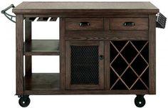 Bar cabinet Storage - Home Decorators Collection Cooper Rustic Walnut Kitchen Cart with Storage. Bar Cart Styling, Bar Cart Decor, Bar Furniture, Kitchen Furniture, Backyard Furniture, Wine Cart, Rolling Bar Cart, Walnut Kitchen, Gold Bar Cart