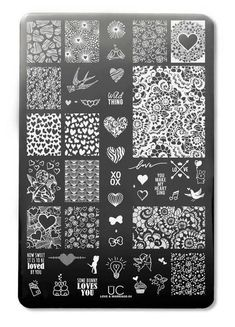 Love and Marriage 04 - UberChic Nail Stamping Plate Nail Stamping nail stamping fail Get Nails, Love Nails, Bridal Nails, Wedding Nails, Nagel Stamping, Giving Up Alcohol, Eyeshadow Tips, Nail Stamping Plates, Nail Plate