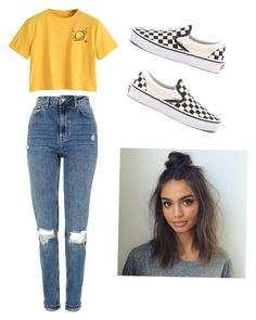 """""""Untitled #15"""" by haileymagana on Polyvore featuring Topshop and Vans"""
