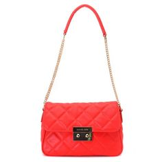Charming Michael Kors Sloan Quilted Small Red Shoulder Bags Make You To BeCrazy Cheap Michael Kors Bags, Michael Kors Handbags Outlet, Mk Handbags, Red Shoulder Bags, Quilted Shoulder Bags, Michael Kors Shoulder Bag, Shoulder Strap, Michael Kors Sloan, Gucci Purses