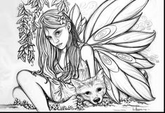 Fairy Coloring Pages For Adults Printable Bright