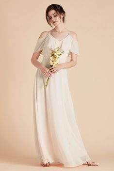 d85fa7316b14 Birdy Grey Bridesmaid Dress Under $100 - Jane Convertible Dress in  Champagne - Romantic Delicate Ruffled