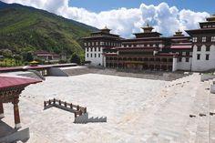 Tshechu Ground or the National Ceremonial Plaza in Thimphu, Bhutan.