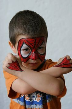 another cool spidy facepaint...