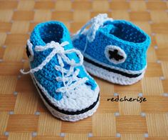 Click the link to find the FREE pattern for these Baby Converse Crochet Booties