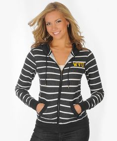 Take a look at this Navy Stripe West Virginia Zip-Up Hoodie - Women by University Girls Apparel on #zulily today!