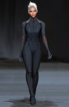 """Concept art of Storm from """"X-Men: Days of Future"""" (2014)."""