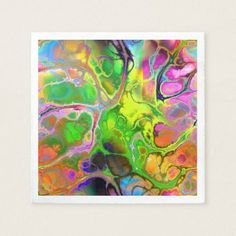 Vibrant Marble Fractal Paper Napkin - marble gifts style stylish nature unique personalize