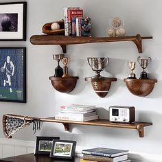 Sport Shelving #pbteen- soccer shelf