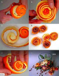 rosas de naranjas