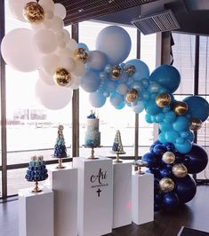 """1,712 Likes, 20 Comments - Boutique Balloons Melbourne (@boutiqueballoonsmelbourne) on Instagram: """"Beautiful christening set up by @luxecoutureevents featuring our colour block ombre garland"""""""