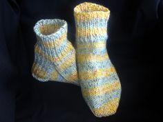 Mens Striped Bulky Sock Slippers Shoe Size 9 to 10. $20.00, via Etsy.